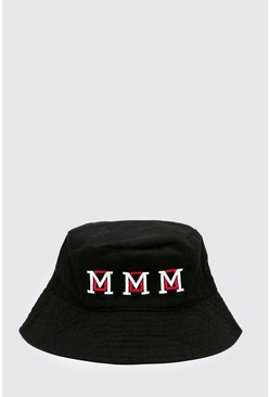 Black Varsity Bucket Hat