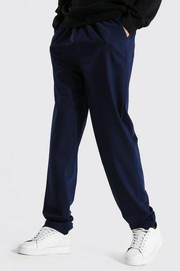 Navy Tall Straight Leg Woven Joggers