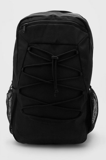 Black Rucksack With Lace Up Detail
