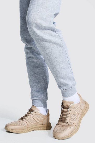 Stone beige Suede Panel Trainer