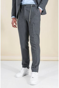 Slim Grey Suit Jogger Trousers