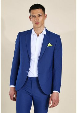 Skinny Blue Single Breasted Jacket