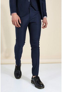 Skinny Navy Suit Trousers