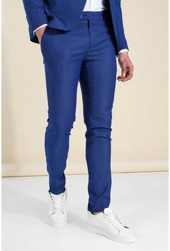 Skinny Blue Suit Trousers
