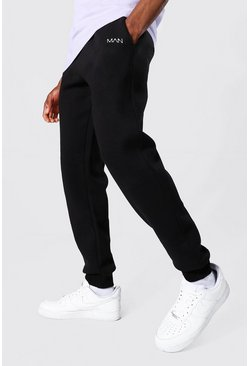 Man Dash Regular Fit Jogger, Black noir