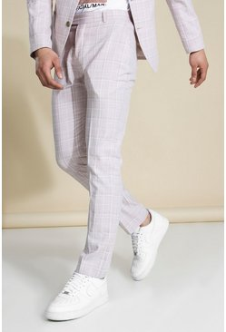 Slim Beige Suit Trousers