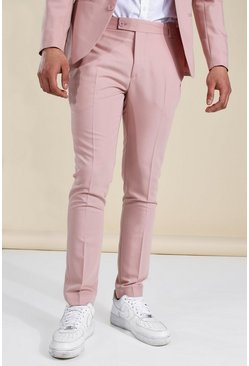 Skinny Light Pink Suit Trousers