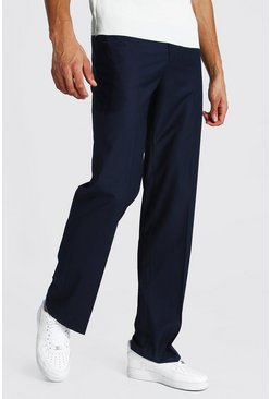 Navy Tall Straight Leg Pants