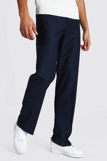 Navy Tall Straight Leg Trouser