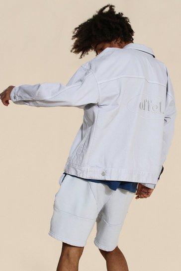 Grey Oversized Official Overdyed Denim Jacket