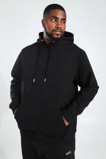Black Plus Recycled Regular Fit Hoodie