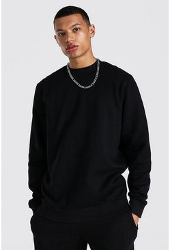 Black Tall Regular Fit Recycled Sweatshirt