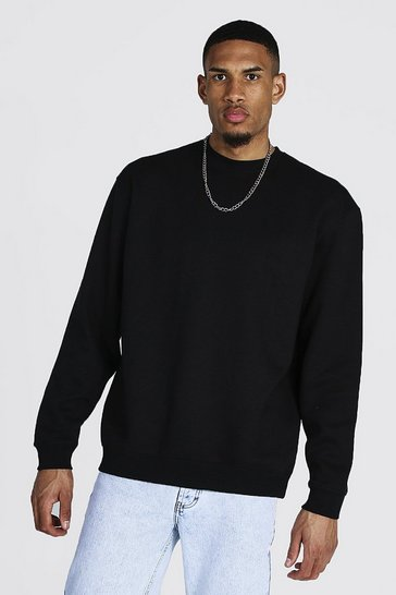 Black Tall Recycled Oversized Sweater