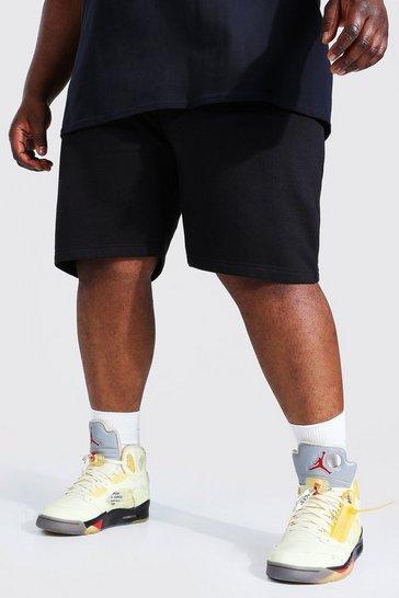 Black Plus Recycled Regular Fit Jersey Short