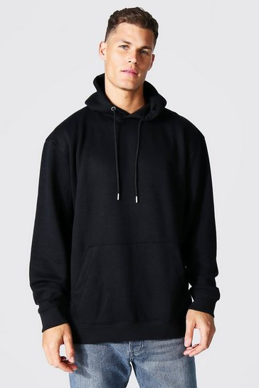 Black Tall Recycled Oversized Hoodie