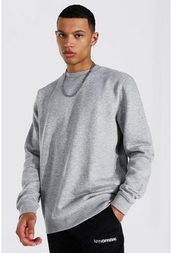 Grey marl grey Tall Regular Fit Recycled Sweatshirt