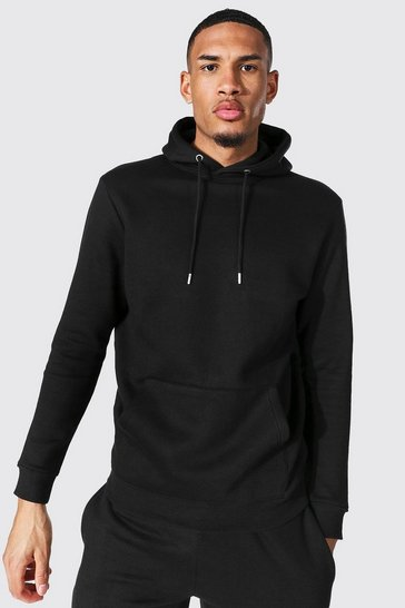 Black Tall Recycled Regular Fit Hoodie