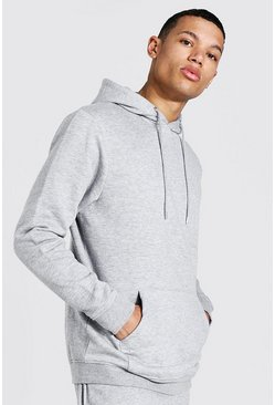 Tall Regular Fit Recycled Hoodie, Grey marl grau
