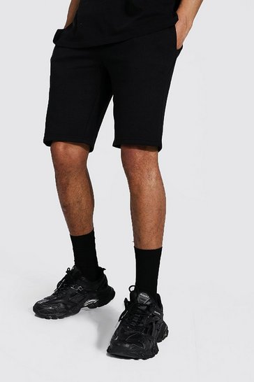 Black Tall Recycled Slim Fit Jersey Short