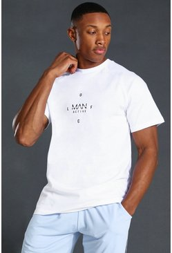 T-shirt MAN Active con stampa grafica, Bianco