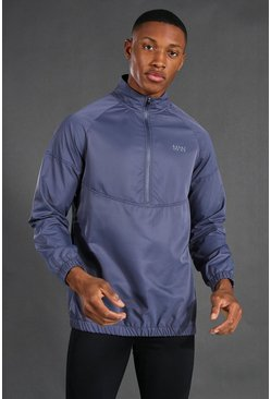 Navy Man Active 1/4 Zip Funnel Neck Windbreaker