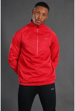 Red Man Active 1/4 Zip Funnel Neck Windbreaker