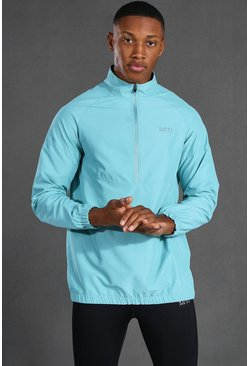 Blue Man Active 1/4 Zip Funnel Neck Windbreaker