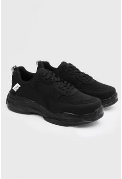 Black Chunky sneakers med matt finish