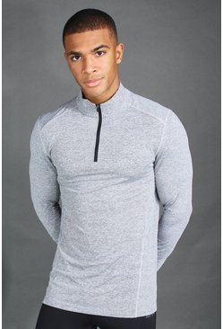Charcoal grey MAN Active Long Sleeve Running Top