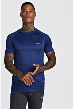 Navy MAN Active Raglan T-Shirt