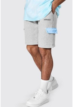 Light blue blå Official Cargoshorts med blockfärger