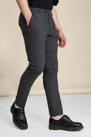 Skinny Smart Grey Check Trouser
