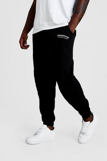 Black Plus Size MAN Official Edition Limited Joggers