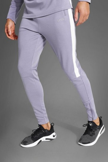 Grey Man Active Mesh Panel Zip Pocket Jogger