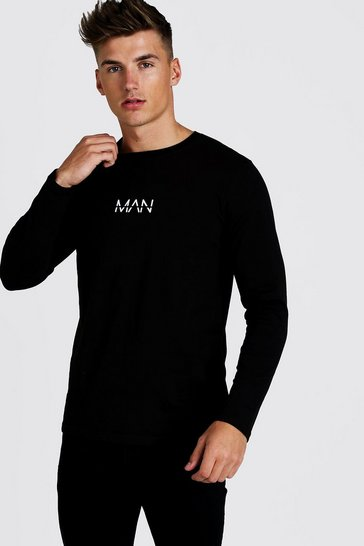 Black Original MAN Long Sleeve T-Shirt
