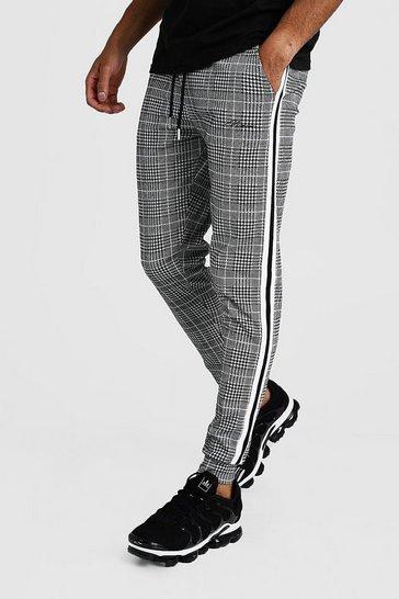 Grey MAN Signature Jacquard Cuffed Jogger With Tape