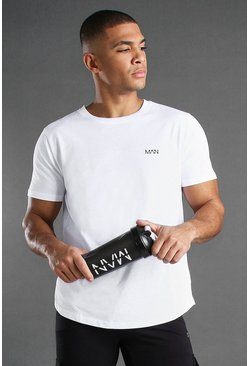 Wit white MAN Gym Basic T-shirt