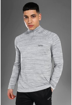 Grey Man Active Textured 1/4 Top
