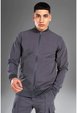 Grey Man Active Nylon Fitted Bomber Jacket