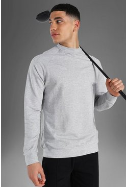 Grey Man Active Raglan Mock Neck Sweatshirt