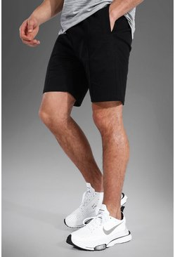 Black svart MAN Active Chinoshorts
