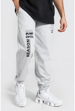 Grey marl grey Official Graphic Print Jogger