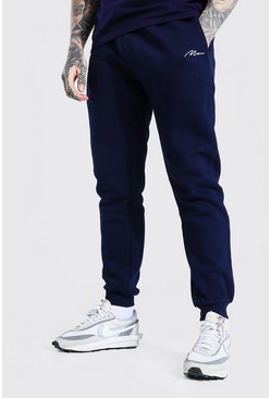 Navy Slim Man Signature Fit Jogger