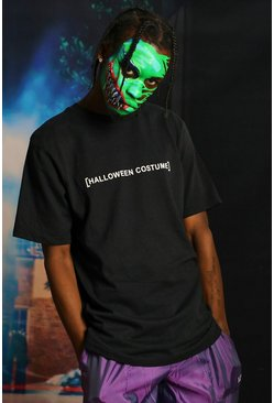 Black Halloween Costume Text T-Shirt