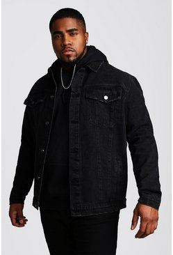 Black Big And Tall Denim Western Jacket