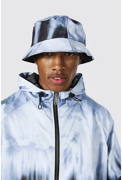 Grey Tie Dye Bucket Hat