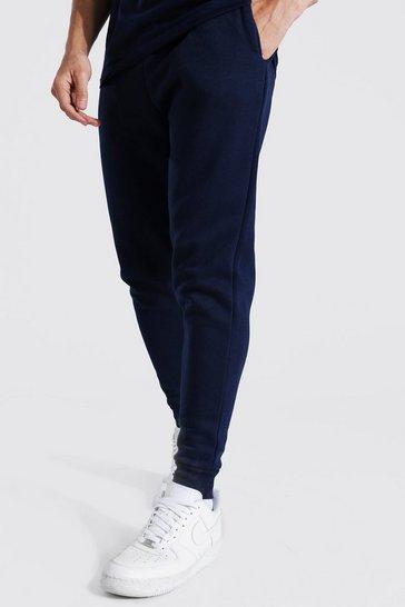 Navy Basic Skinny Fit Fleece Jogger