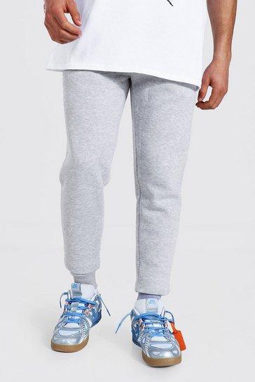 Grey Basic Skinny Fit Fleece Jogger