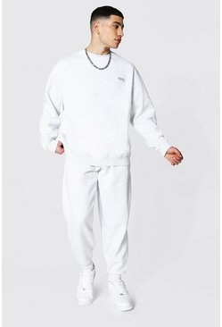 Ash grey Oversized Original Man Sweater Tracksuit