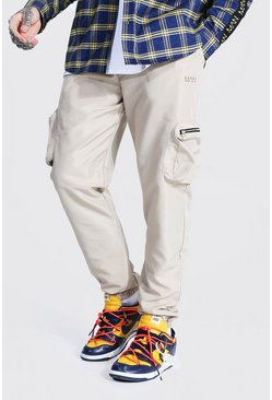 Stone beige Original Man 3d Pocket Buckle Cargo Trouser